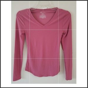 2 for 20 🌞 Pink long sleeve shirt, size: XS